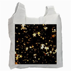 Golden stars in the sky Recycle Bag (One Side)