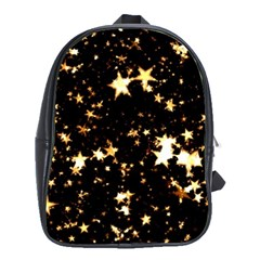 Golden stars in the sky School Bags(Large)
