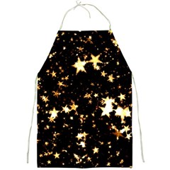 Golden stars in the sky Full Print Aprons