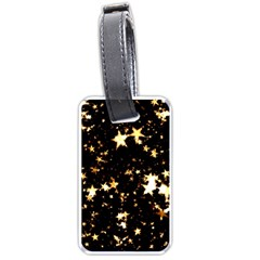 Golden stars in the sky Luggage Tags (Two Sides)