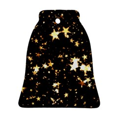 Golden stars in the sky Bell Ornament (2 Sides)