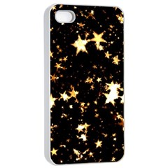 Golden stars in the sky Apple iPhone 4/4s Seamless Case (White)