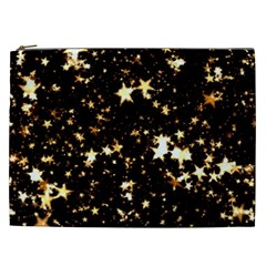 Golden stars in the sky Cosmetic Bag (XXL)
