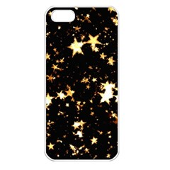 Golden stars in the sky Apple iPhone 5 Seamless Case (White)