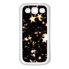 Golden stars in the sky Samsung Galaxy S3 Back Case (White)