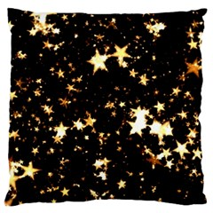 Golden stars in the sky Standard Flano Cushion Case (Two Sides)