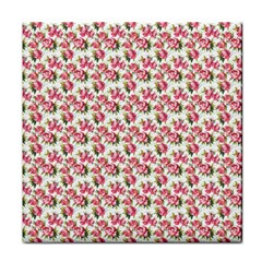 Gorgeous Pink Flower Pattern Face Towel