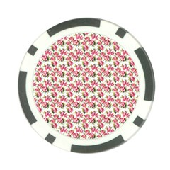 Gorgeous Pink Flower Pattern Poker Chip Card Guards (10 pack)