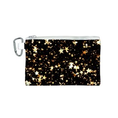 Golden stars in the sky Canvas Cosmetic Bag (S)