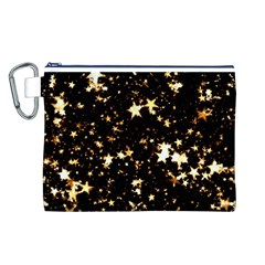 Golden stars in the sky Canvas Cosmetic Bag (L)