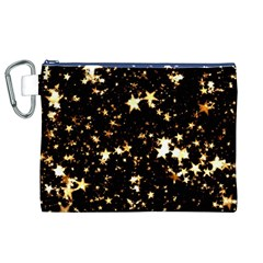 Golden stars in the sky Canvas Cosmetic Bag (XL)