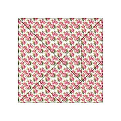 Gorgeous Pink Flower Pattern Acrylic Tangram Puzzle (4  x 4 )