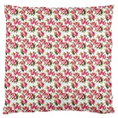 Gorgeous Pink Flower Pattern Large Cushion Case (One Side)