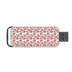 Gorgeous Pink Flower Pattern Portable USB Flash (One Side)