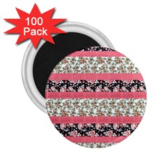 Cute Flower Pattern 2.25  Magnets (100 pack)