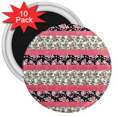 Cute Flower Pattern 3  Magnets (10 pack)