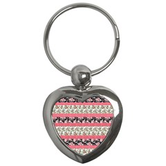 Cute Flower Pattern Key Chains (Heart)