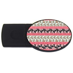 Cute Flower Pattern USB Flash Drive Oval (2 GB)