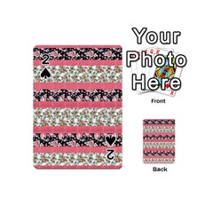 Cute Flower Pattern Playing Cards 54 (Mini)