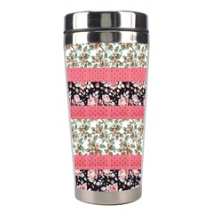 Cute Flower Pattern Stainless Steel Travel Tumblers