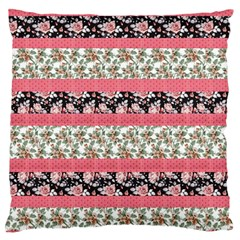 Cute Flower Pattern Standard Flano Cushion Case (Two Sides)