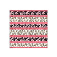Cute Flower Pattern Satin Bandana Scarf