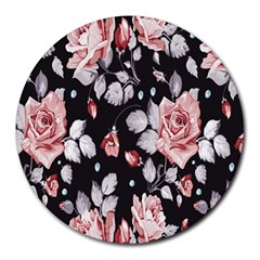 Vintage Flower Round Mousepads