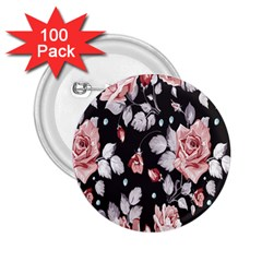 Vintage Flower 2.25  Buttons (100 pack)