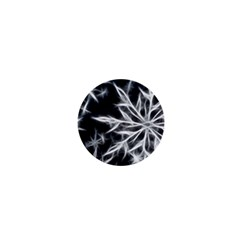 Snowflake in feather look, black and white 1  Mini Magnets
