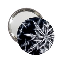 Snowflake in feather look, black and white 2.25  Handbag Mirrors