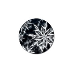 Snowflake in feather look, black and white Golf Ball Marker (4 pack)