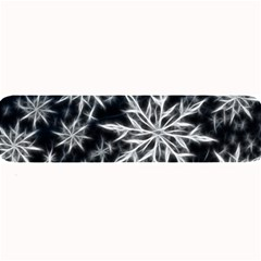 Snowflake in feather look, black and white Large Bar Mats