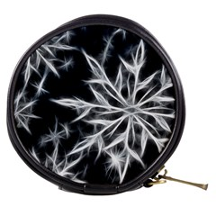 Snowflake in feather look, black and white Mini Makeup Bags