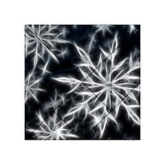 Snowflake in feather look, black and white Acrylic Tangram Puzzle (4  x 4 )