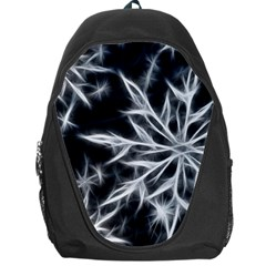 Snowflake in feather look, black and white Backpack Bag