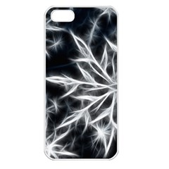 Snowflake in feather look, black and white Apple iPhone 5 Seamless Case (White)