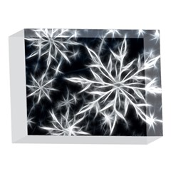 Snowflake in feather look, black and white 5 x 7  Acrylic Photo Blocks