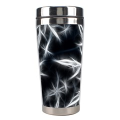 Snowflake in feather look, black and white Stainless Steel Travel Tumblers