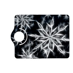 Snowflake in feather look, black and white Kindle Fire HD (2013) Flip 360 Case