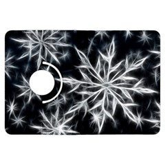 Snowflake in feather look, black and white Kindle Fire HDX Flip 360 Case