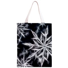 Snowflake in feather look, black and white Classic Light Tote Bag