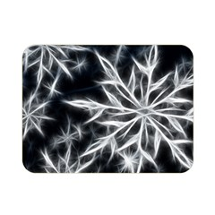 Snowflake in feather look, black and white Double Sided Flano Blanket (Mini)