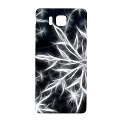 Snowflake in feather look, black and white Samsung Galaxy Alpha Hardshell Back Case