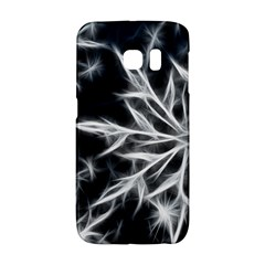 Snowflake in feather look, black and white Galaxy S6 Edge