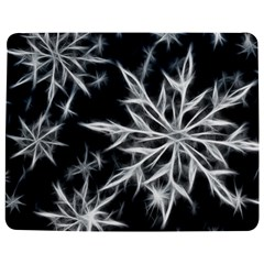 Snowflake in feather look, black and white Jigsaw Puzzle Photo Stand (Rectangular)