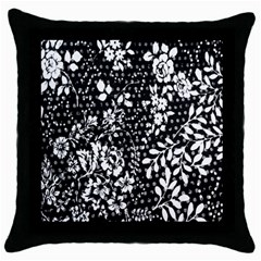 Flower Throw Pillow Case (Black)