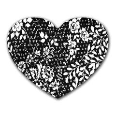 Flower Heart Mousepads