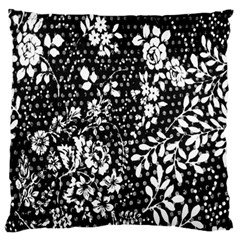Flower Large Flano Cushion Case (Two Sides)