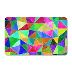 Triangles, colorful watercolor art  painting Magnet (Rectangular)