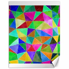 Triangles, colorful watercolor art  painting Canvas 18  x 24